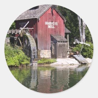 harpers mill classic round sticker