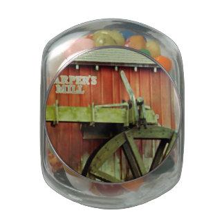 Harper's Mill Glass Candy Jars
