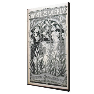 'Harper's Weekly', Christmas Announcements 1896 (l Canvas Print
