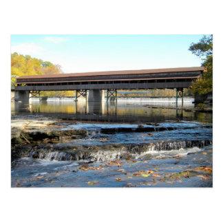 Harpersfield Covered Bridge Ashtabula County Ohio Postcard