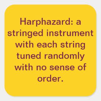 harphazard pegatina cuadrada