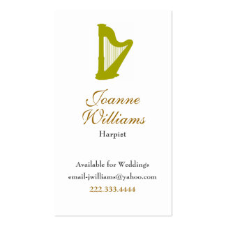 Harpist Business Card