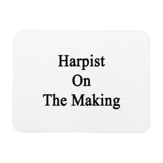 Harpist On The Making Rectangular Photo Magnet