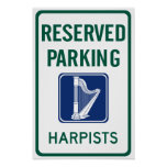 Harpists Parking Poster