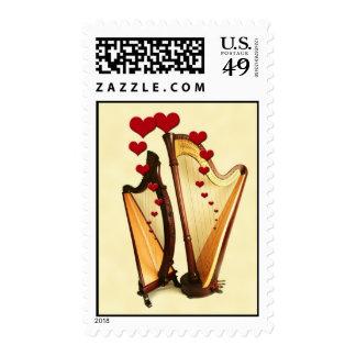 Harps in Love Stamp