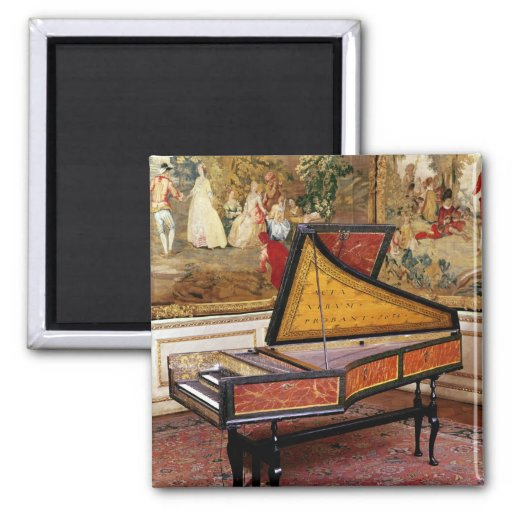 Harpsichord 1634 by Jan or Joannes Ruckers 2-inch Square Magnet