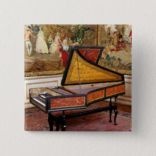 Harpsichord 1634 by Jan or Joannes Ruckers 2-inch Square Button