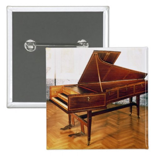 Harpsichord Belonging to Franz Joseph Haydn 2-inch Square Button