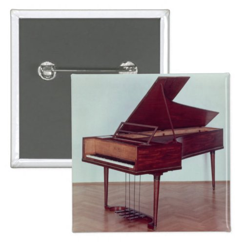 Harpsichord Belonging to Ludwig van Beethoven 2-inch Square Button