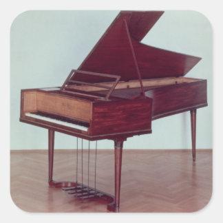 Harpsichord belonging to Ludwig van Beethoven Square Sticker