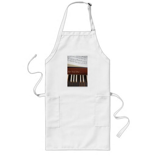 Harpsichord Keyboard and Sheet Music Long Length Apron