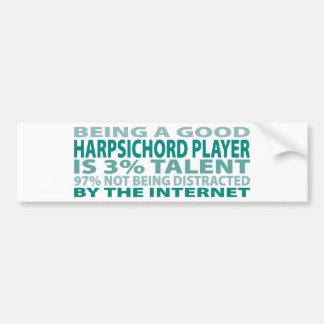 Harpsichord Player 3% Talent Bumper Sticker