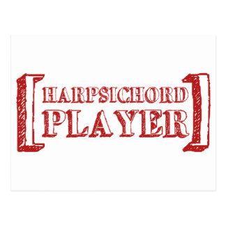Harpsichord Player Postcard