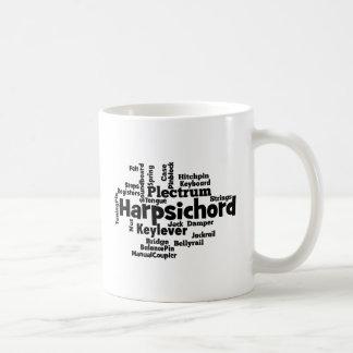 Harpsichord Word Cloud Coffee Mug