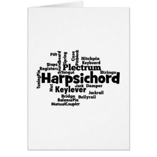 Harpsichord Word Cloud Greeting Card