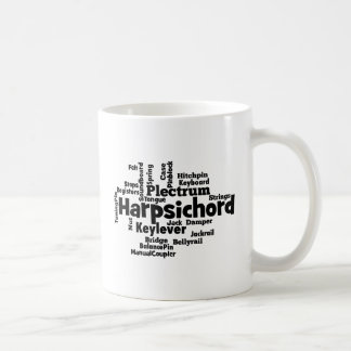 Harpsichord Word Cloud Mug