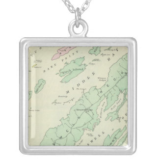 Harpswell, adjacent islands square pendant necklace