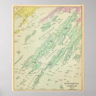Harpswell, islas adyacentes poster