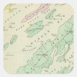 Harpswell, islas adyacentes pegatina cuadrada