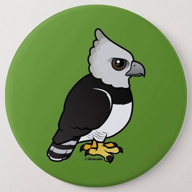 Birdorable Harpy Eagle Round Button | Cute Bird Gifts