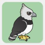 Harpy Eagle Calcomanía Cuadrada