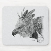 Harpy Eagle Drawing Mouse Pad