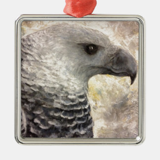 Harpy Eagle Study in Acrylic Metal Ornament