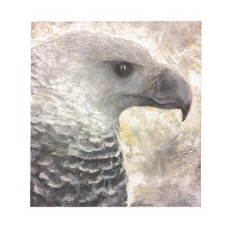 Harpy Eagle Study in Acrylic Notepad