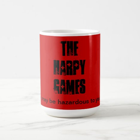 Harpy Games mug.  Caution. Coffee Mug