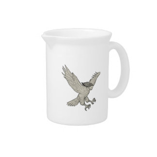 Harpy Swooping Drawing Drink Pitcher
