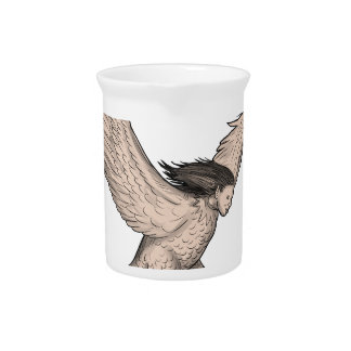 Harpy Swooping Tattoo Pitcher