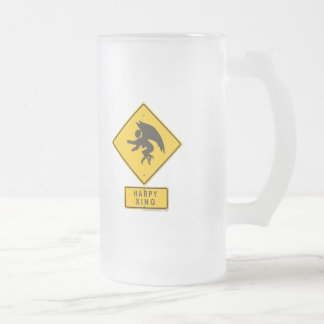 Harpy XING Frosted Glass Beer Mug