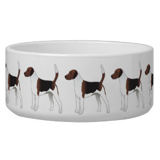 Harrier Basic Breed Hound Dog Illustration Bowl