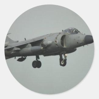 Harrier Classic Round Sticker
