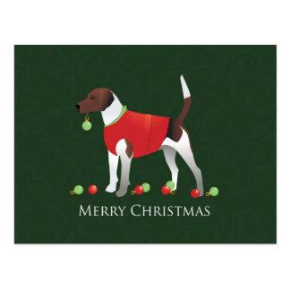 Harrier Dog Christmas Design Postcard