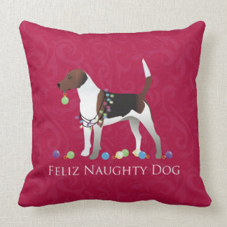 Harrier Dog Christmas Design Throw Pillow