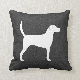 Harrier Dog Silhouette Throw Pillow