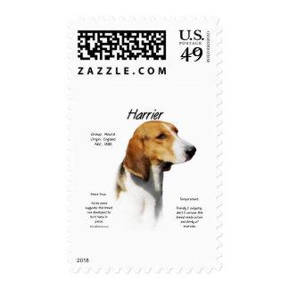 Harrier History Design Postage Stamp