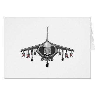 Harrier Jump Jet Card