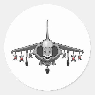 Harrier Jump Jet Classic Round Sticker