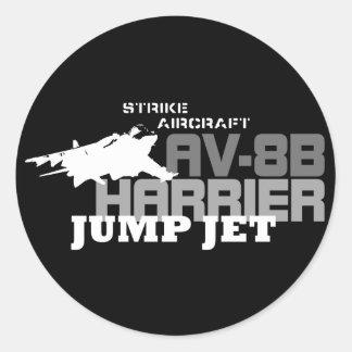 Harrier Jump Jet - Classic Round Sticker