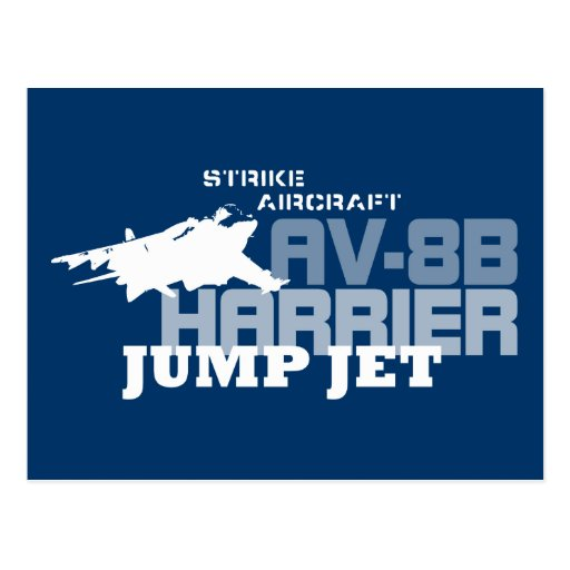 Harrier Jump Jet - Postcard
