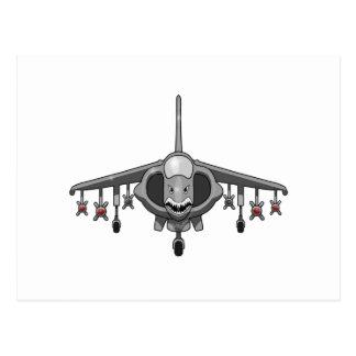 Harrier Jump Jet Postcard