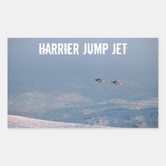 Harrier Jump Jet Rectangular Sticker