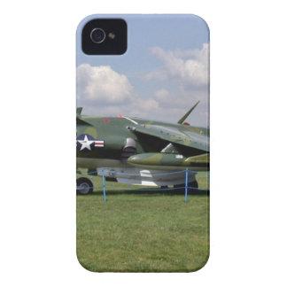 Harrier jumpjet plane against the blue sky iPhone 4 Case-Mate case