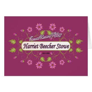 ~ Harriet Beecher Stowe/mujeres famosas de Stowe d Tarjeta