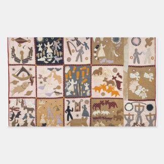 Harriet Powers - Pictoral Quilt 1898 Rectangular Sticker