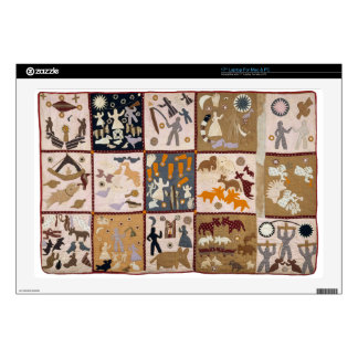 """Harriet Powers - Pictoral Quilt 1898 Decals For 17"""" Laptops"""