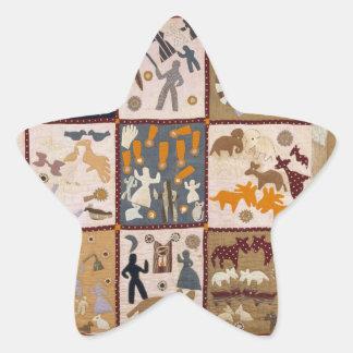 Harriet Powers - Pictoral Quilt 1898 Star Sticker