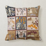 Harriet Powers - Pictoral Quilt 1898 Throw Pillow